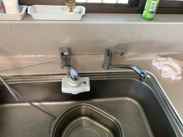 台所水栓取り替え