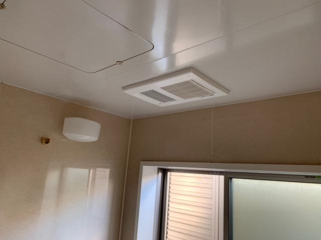 浴室換気乾燥暖房機取り替え